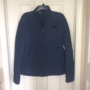 Men's M EUC North Face Jacket Navy/Slate Blue Coat